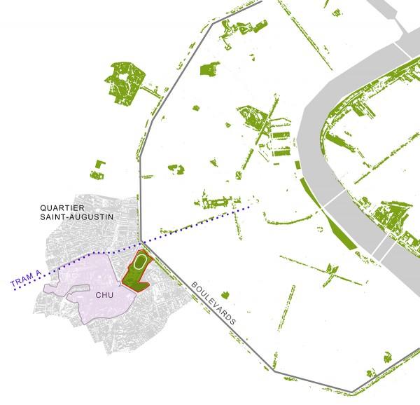 Plan espace vert de la ville