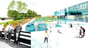 Cité de l'eau avec piscine naturelle