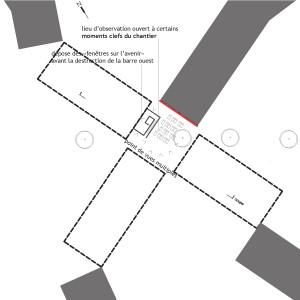 plan du site - pendant le chantier