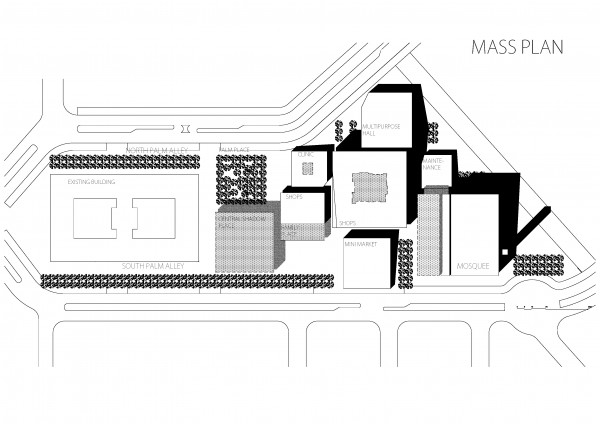 Djeddah - Plan masse bâti
