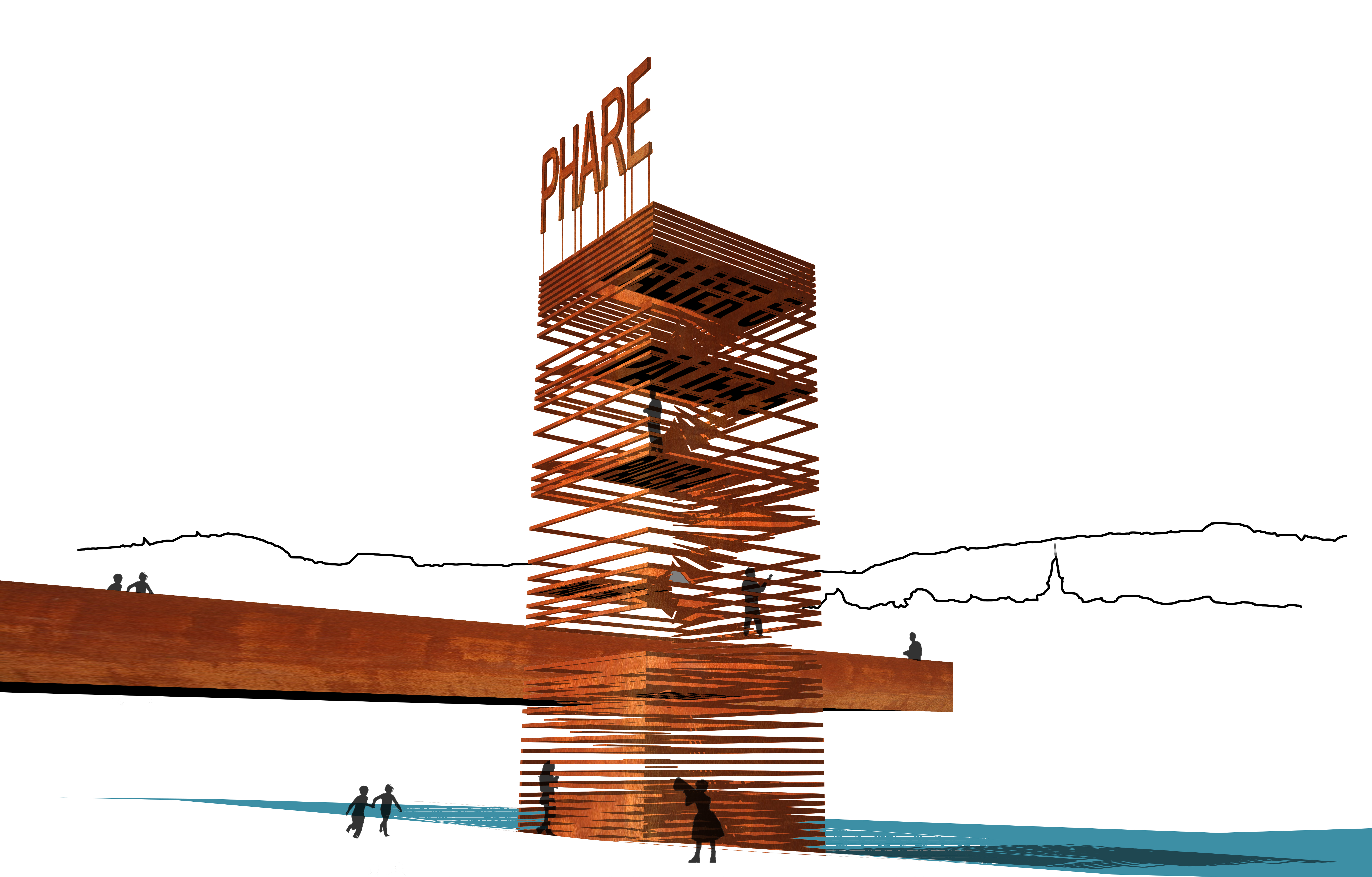 Phare perse filaire