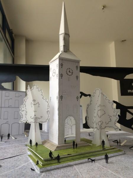 maquette d'étude de la scénographie de la Tour Jacquemart.